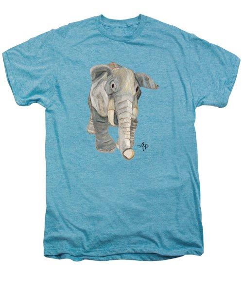 Cuddly Elephant Men's Premium T-Shirt by Angeles M Pomata