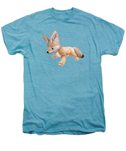 Cuddly Snow Fox Men's Premium T-Shirt by Angeles M Pomata