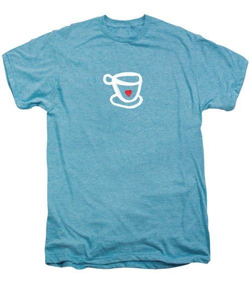 Cup Of Love- Shirt Men's Premium T-Shirt by Linda Woods