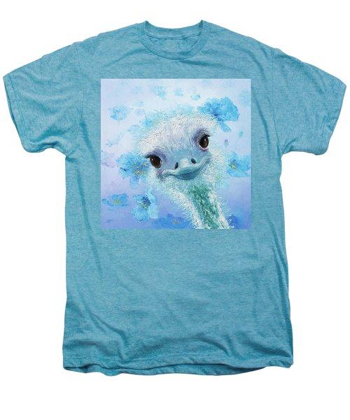 Curious Ostrich Men's Premium T-Shirt by Jan Matson