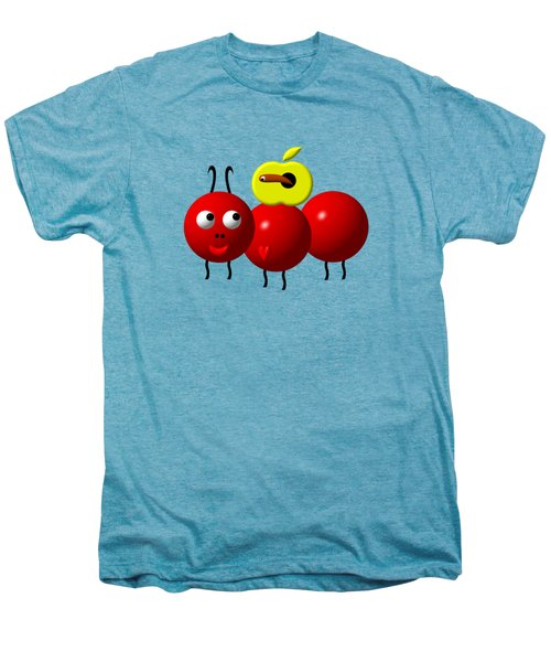 Cute Ant With An Apple Men's Premium T-Shirt by Rose Santuci-Sofranko