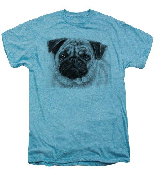Cute Pug Men's Premium T-Shirt by Olga Shvartsur