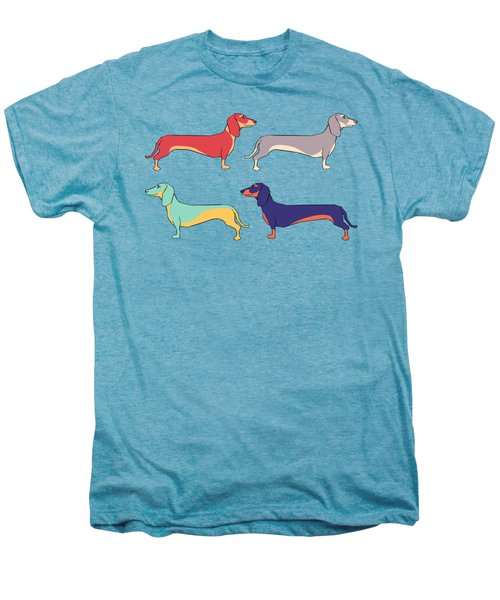 Dachshunds Men's Premium T-Shirt by Kelly Jade King