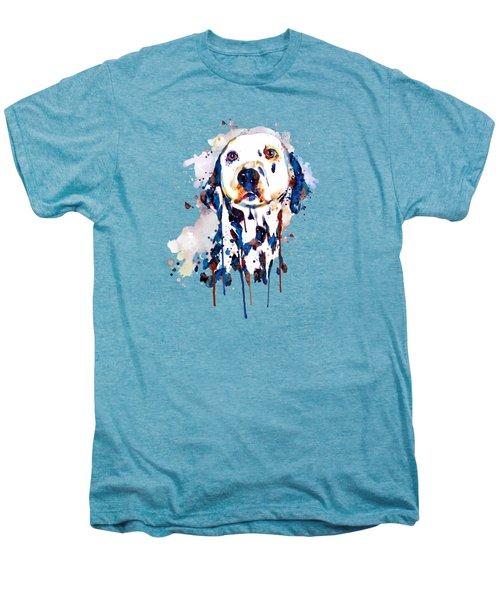 Dalmatian Head Men's Premium T-Shirt by Marian Voicu