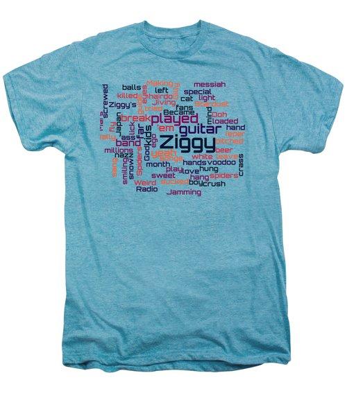 David Bowie - Ziggy Stardust Lyrical Cloud Men's Premium T-Shirt by Susan Maxwell Schmidt