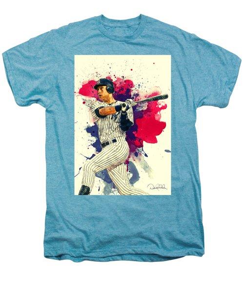 Derek Jeter Men's Premium T-Shirt by Taylan Soyturk
