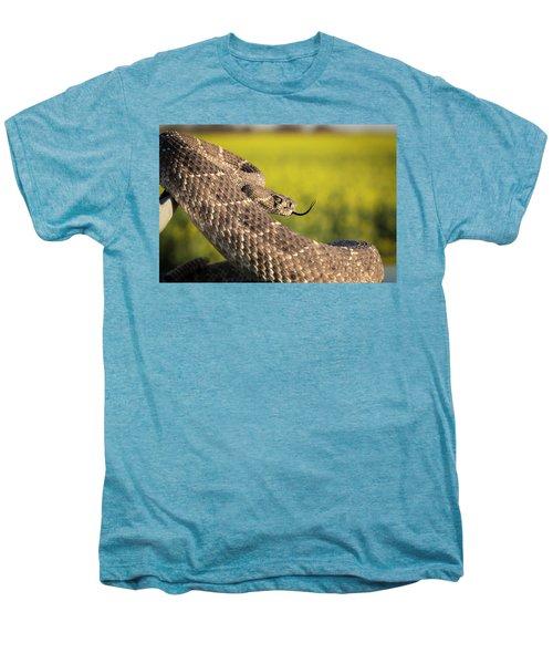 Diamondback And Canola Field Men's Premium T-Shirt by Chris Harris