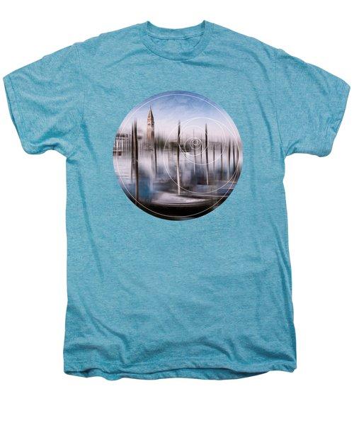 Digital-art Venice Grand Canal And St Mark's Campanile Men's Premium T-Shirt by Melanie Viola