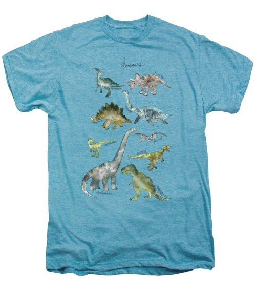 Dinosaurs Men's Premium T-Shirt by Amy Hamilton