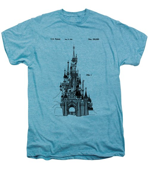 Disneyland Castle Patent Art Men's Premium T-Shirt by Safran Fine Art