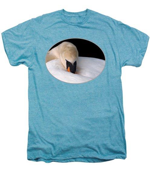 Do Not Disturb - Swan On Nest Men's Premium T-Shirt by Gill Billington