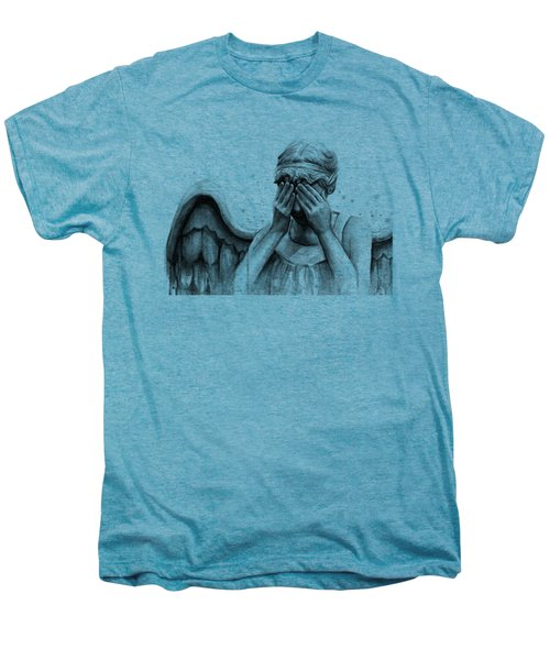 Doctor Who Weeping Angel Don't Blink Men's Premium T-Shirt by Olga Shvartsur