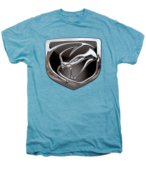 Dodge Viper 3 D  Badge Special Edition On Yellow Men's Premium T-Shirt by Serge Averbukh