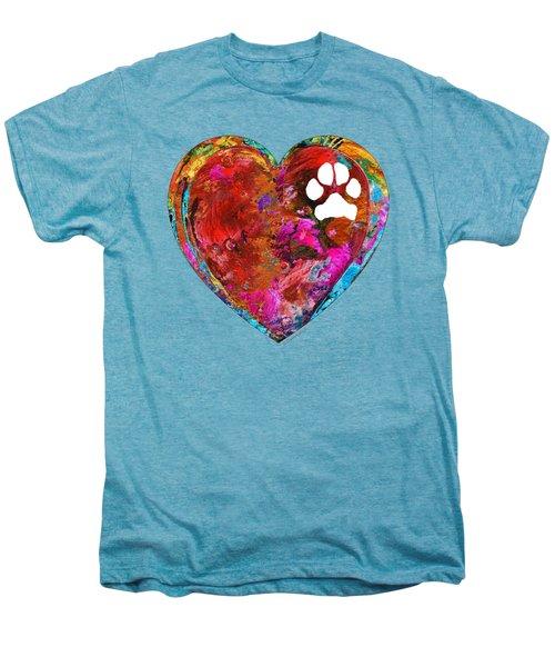 Dog Art - Puppy Love 2 - Sharon Cummings Men's Premium T-Shirt by Sharon Cummings
