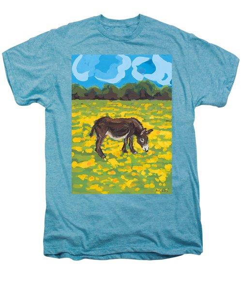 Donkey And Buttercup Field Men's Premium T-Shirt by Sarah Gillard