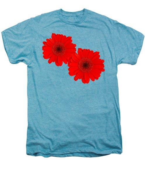 Double Gerbera Men's Premium T-Shirt by Scott Carruthers
