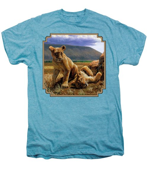 Double Trouble Men's Premium T-Shirt by Crista Forest