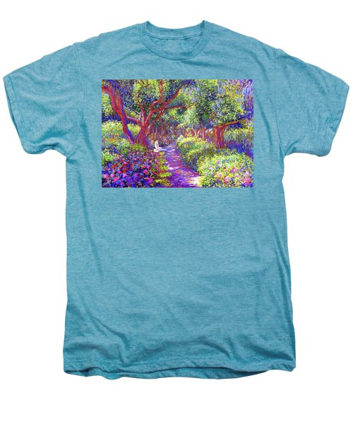 Dove And Healing Garden Men's Premium T-Shirt by Jane Small