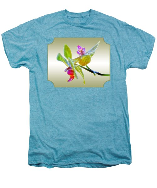 Dragon Glow Orchid Men's Premium T-Shirt by Gill Billington