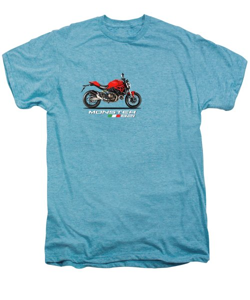Ducati Monster 821 Men's Premium T-Shirt by Mark Rogan