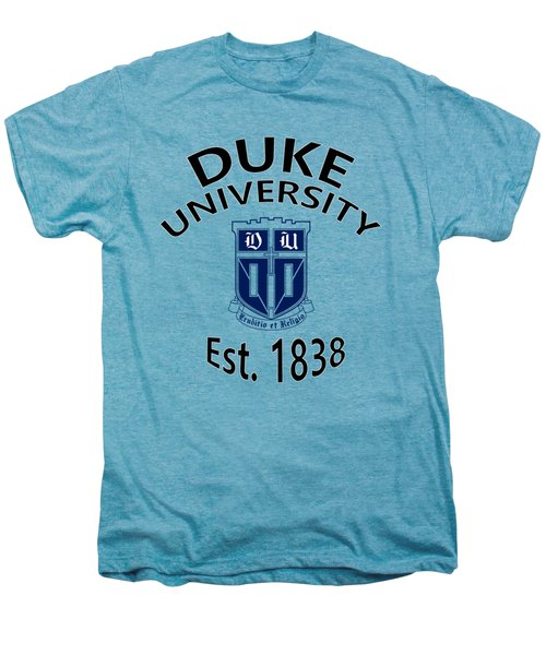 Duke University Est 1838 Men's Premium T-Shirt by Movie Poster Prints