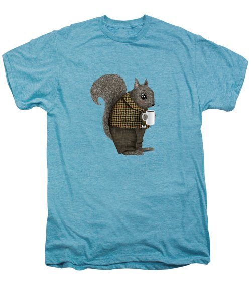 Early Morning For Mister Squirrel Men's Premium T-Shirt by Little Bunny Sunshine