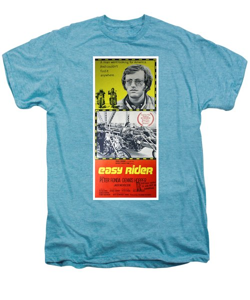 Easy Rider Movie Lobby Poster  1969 Men's Premium T-Shirt by Daniel Hagerman