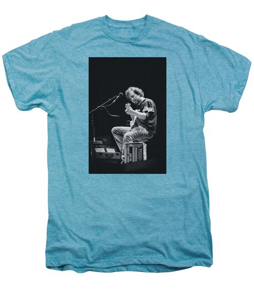 Eddie Vedder Playing Live Men's Premium T-Shirt by Marco Oliveira