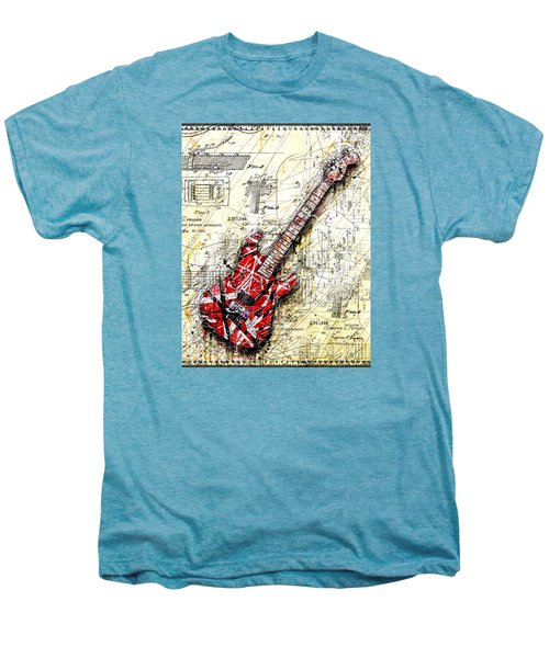Eddie's Guitar 3 Men's Premium T-Shirt by Gary Bodnar