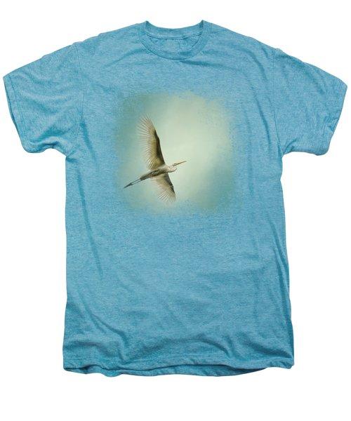 Egret Overhead Men's Premium T-Shirt by Jai Johnson