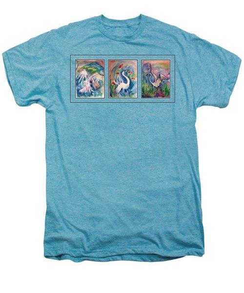 Egret Series Men's Premium T-Shirt by Robin Monroe