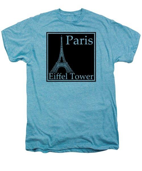 Eiffel Tower In Black Men's Premium T-Shirt by Custom Home Fashions