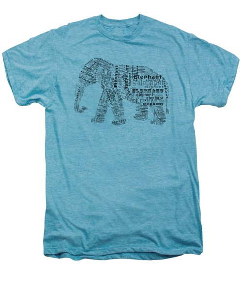 Elefont Noir Men's Premium T-Shirt by Heather Applegate