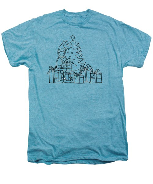 Elf And Presents  Men's Premium T-Shirt by Mantra Y