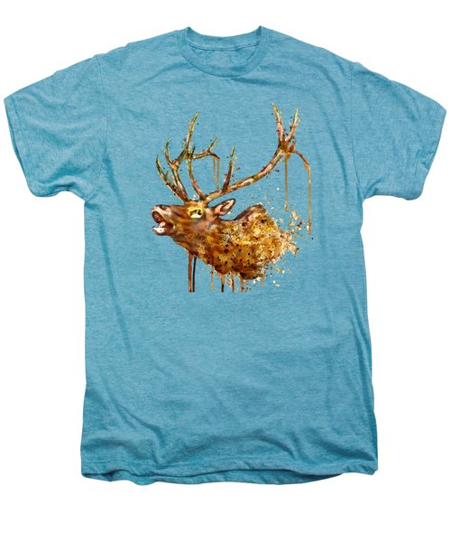 Elk In Watercolor Men's Premium T-Shirt by Marian Voicu