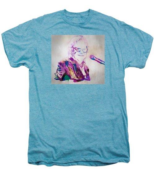 Elton John Men's Premium T-Shirt by Dan Sproul