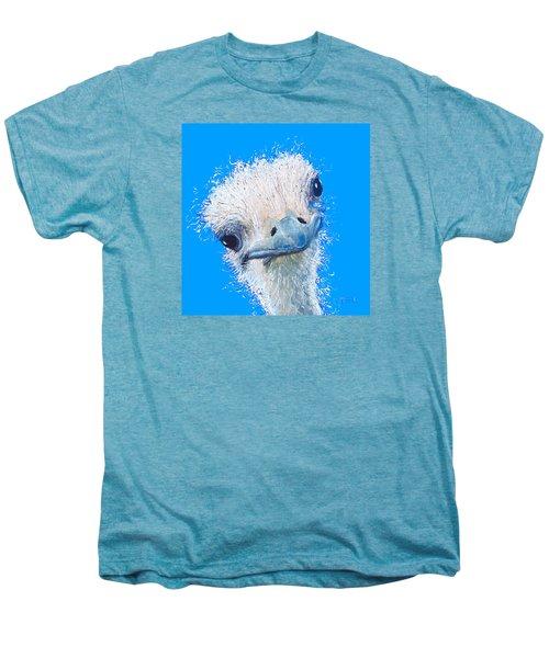 Emu Painting Men's Premium T-Shirt by Jan Matson