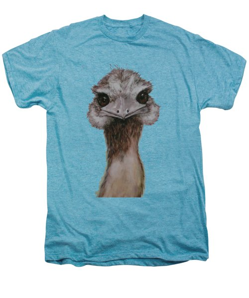 Emu Selfie Men's Premium T-Shirt by Kathy Carothers