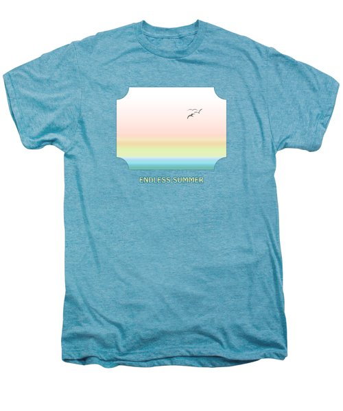 Endless Summer - Pink Men's Premium T-Shirt by Gill Billington