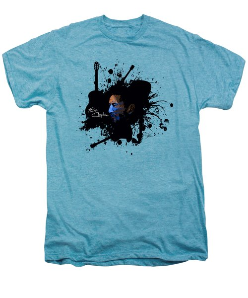 Eric Clapton In Blue Men's Premium T-Shirt by Ryan Anderson