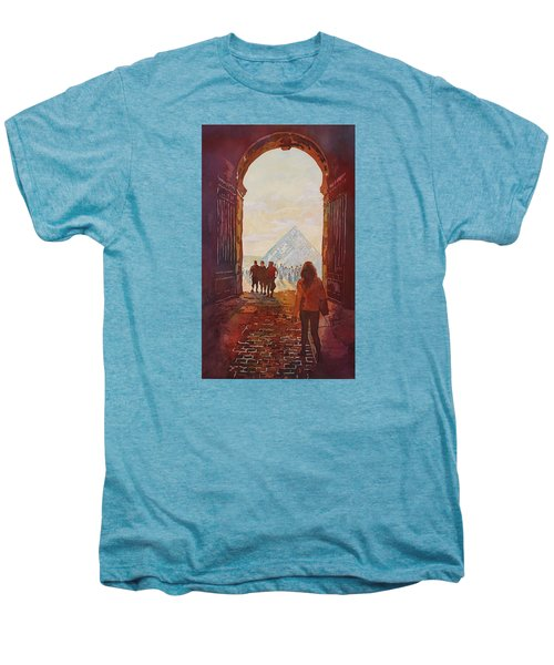 Evening At The Louvre Men's Premium T-Shirt by Jenny Armitage