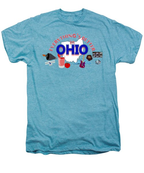 Everything's Better In Ohio Men's Premium T-Shirt by Pharris Art