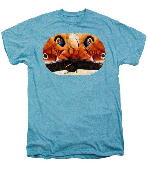 Eye On You - Silk Paint Men's Premium T-Shirt by Anita Faye