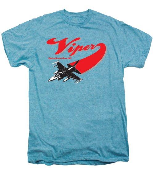 F-16 Swoop Men's Premium T-Shirt by Clear II land Net