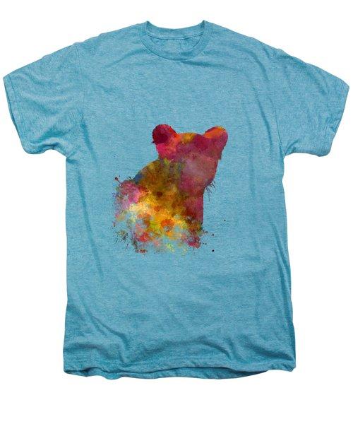 Female Lion 02 In Watercolor Men's Premium T-Shirt by Pablo Romero