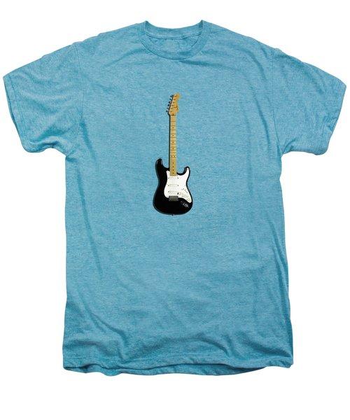 Fender Stratocaster Blackie 77 Men's Premium T-Shirt by Mark Rogan