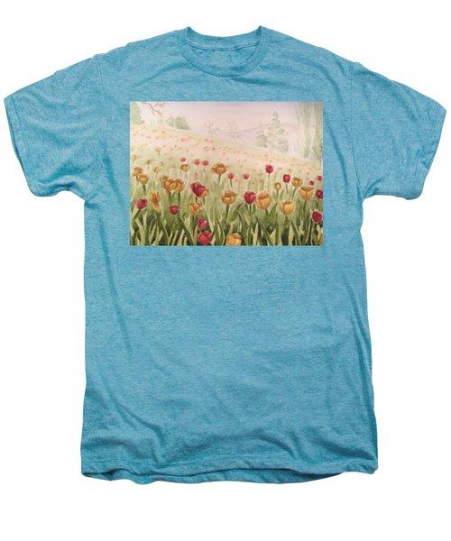 Field Of Tulips Men's Premium T-Shirt by Kayla Jimenez