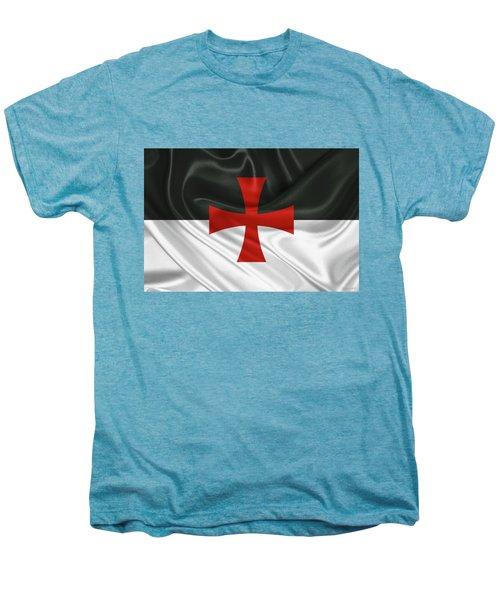 Flag Of The Knights Templar Men's Premium T-Shirt by Serge Averbukh