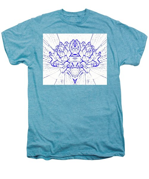 Floral Abstract No. 1-1 Men's Premium T-Shirt by Sandy Taylor
