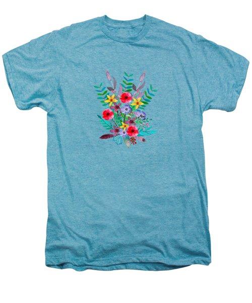 Floral Bouquet Men's Premium T-Shirt by Amanda Lakey